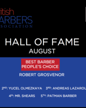 HALL OF FAME - Best Barber: PEOPLE'S Choice - AUGUST 2017