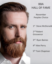 HALL OF FAME - Peoples Choice WINNER - NOVEMBER 2016