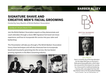 BBA Heads to Barber Alley in Canada Checkout the BBA Education Classes in Canada at ABA REVEL Show T