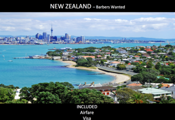 NEW ZEALAND - Barbers Wanted,  Chance in a lifetime opportunity