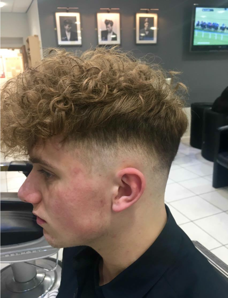 Straight perm for guys - The Iconic Man Perm Made Notorious By Harry Enfield S Scousers Is Making A Big Comeback In The North West Only This Time It S Minus The Tache And Comes